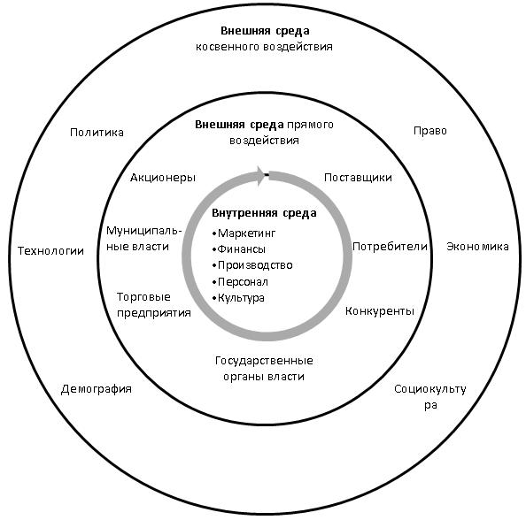 Среда организации схема пример